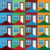 Seamless background houses Stock Photo