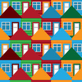 Seamless background houses Stock Image