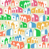 Seamless background with houses Royalty Free Stock Photography