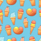 Seamless Background with ice cream Stock Images