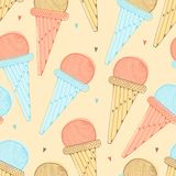 Seamless Background with ice cream Royalty Free Stock Image