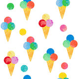 Seamless background with ice cream. Royalty Free Stock Photo