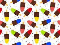 Seamless background with ice cream. Vector illustration royalty free illustration