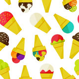 Seamless background with ice-cream vector illustration Royalty Free Stock Images