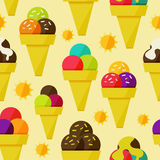 Seamless background with ice-cream vector illustration Royalty Free Stock Photography
