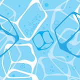 Seamless background ice cubes. Vector textures royalty free illustration