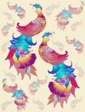 Seamless  background. Illustration  birds. Royalty Free Stock Photography