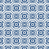 Seamless background image of Chinese octagon spiral square pattern. Royalty Free Stock Image