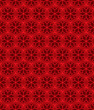 Seamless background image of Chinese window tracery round cross flower geometry pattern. Stock Images