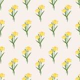 Seamless background image colorful botanic flower leaf plant yel Stock Image