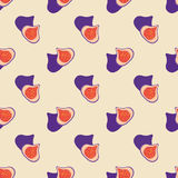 Seamless background image colorful tropical fruit fig Stock Photography