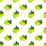 Seamless background image colorful tropical fruit green gooseberry Stock Photography