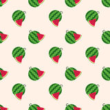 Seamless background image colorful tropical fruit water melon Royalty Free Stock Image