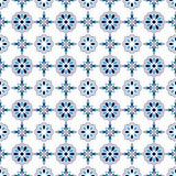 Seamless background image of elegant blue round cross flower. Seamless vintage pattern background image can be used for wallpaper, web page background, surface Stock Image