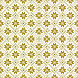 Seamless background image of golden square geometry flower pattern. Stock Photography