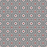 Seamless background image of grey round geometry white flower pattern. Stock Image