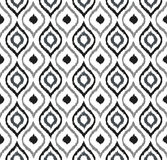 Seamless background image of hand drawn grey tone round curve kaleidoscope pattern. Stock Images