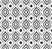 Seamless background image of hand drawn grey tone round curve kaleidoscope pattern. Stock Images