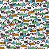 Seamless background image of house Royalty Free Stock Images