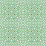 Seamless background image of light green curve cross line flower Stock Images