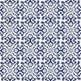 Seamless background image of navy blue cross flower kaleidoscope Royalty Free Stock Photo