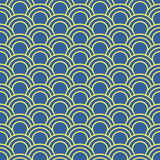 Seamless background image of oriental fish scale round curve line Stock Image