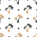 Seamless background with the image of palm trees. pattern. Summer background. Vector illustration. Seamless background with the image of palm trees. simple Royalty Free Stock Photos