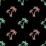Seamless background with the image of palm trees. Vector. simple pattern. Summer background. Seamless background with the image of palm trees. Vector. pattern Royalty Free Stock Photo