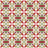Seamless background image of red leaf spiral ball kaleidoscope pattern. Royalty Free Stock Image