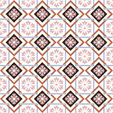 Seamless background image of square check cross frame flower geometry Stock Photo