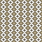 Seamless background image of square mosaic geometry check cross Stock Photography