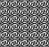 Seamless background image of vintage black white round cross flower pattern. Royalty Free Stock Images