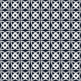 Seamless background image of vintage blue round cross curve geometry pattern. Royalty Free Stock Photo