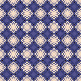 Seamless background image of vintage blue spiral shape pattern. Royalty Free Stock Photography