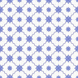 Seamless background image of vintage blue star shape flower pattern. Royalty Free Stock Photos