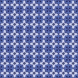Seamless background image of vintage  blue tone cross geometry pattern. Background image of vintage  blue tone cross geometry pattern Royalty Free Stock Photos