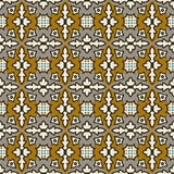 Seamless background image of vintage brown colorful kaleidoscope pattern. Royalty Free Stock Photos