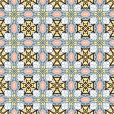 Seamless background image of vintage cross kaleidoscope pattern. Stock Images