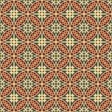 Seamless background image of vintage cross round geometry kaleidoscope pattern. Royalty Free Stock Images