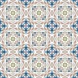 Seamless background image of vintage elegant flower kaleidoscope pattern. Stock Images