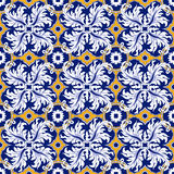 Seamless background image of vintage feather spiral round kaleidoscope pattern. Royalty Free Stock Photography