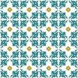 Seamless background image of vintage flower kaleidoscope geometry pattern. Royalty Free Stock Photo