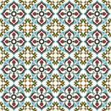 Seamless background image of vintage flower leaf vine kaleidoscope pattern. Royalty Free Stock Photography