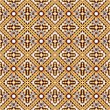 Seamless background image of vintage geometry cross kaleidoscope pattern. Royalty Free Stock Photography