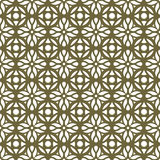 Seamless background image of vintage golden round cross flower kaleidoscope pattern. Royalty Free Stock Images