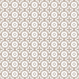 Seamless background image of vintage golden round cross flower pattern. Stock Images