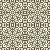 Seamless background image of vintage golden round curve kaleidoscope pattern. Royalty Free Stock Image