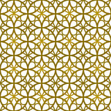 Seamless background image of vintage golden round frame line pattern. Stock Photography