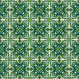 Seamless background image of vintage green leaf vine kaleidoscope pattern. Stock Photos