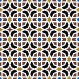 Seamless background image of vintage Islam octagon frame cross star geometry pattern. Royalty Free Stock Photo
